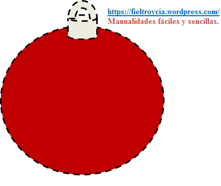 Diy plantillas para adornos de navidad fieltro y c a - Arbol de navidad de bolas ...