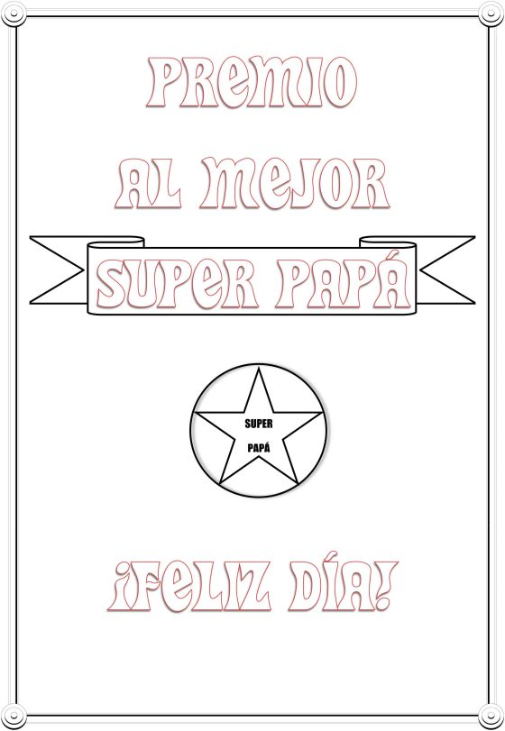 PREMIO AL MEJOR SUPER PAPÁ