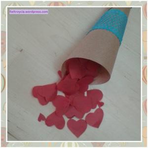Cucurucho para confeti de papel de seda.